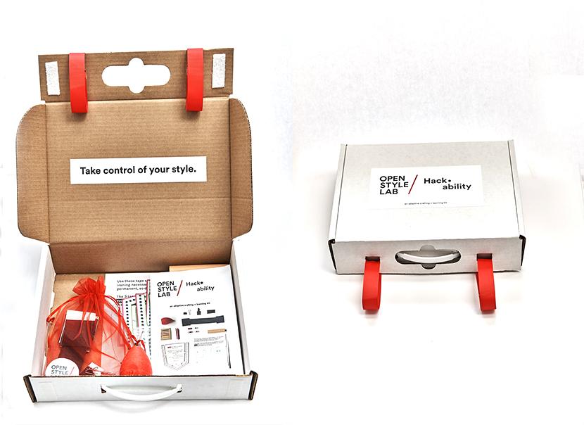 Kit de couture adapté réalisé par l'OSL en collaboration avec des jeunes filles en situation de handicap